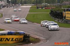 Femte racehelgen i STCC på ett regnigt Falkenberg
