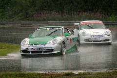 Årets femte deltävling i STCC på Skånska Ring Knutstorp.  Mycket regn och svåra förhållanden. T o m åska och hagel!