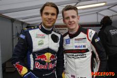 Andreas Mikkelsen och Dennis Olsen var Porsches gästförare på Rudskogen.